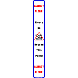 HelpSticker® - Peanut Allergy Alert Vertical Magnet - Pack of 10
