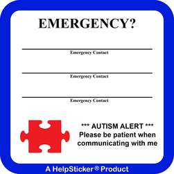 HelpSticker® - Autism Alert Sticker