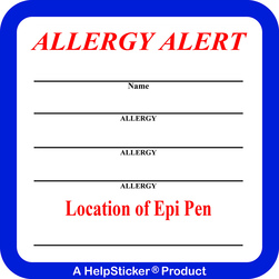 HelpSticker® - Multi Allergy Alert Sticker