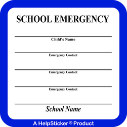 HelpSticker® - School Emergency Sticker