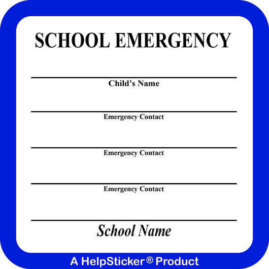 HelpSticker® - School Emergency Sticker - Pack of 250