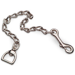 Halter Lead Chain - Nickel Plated