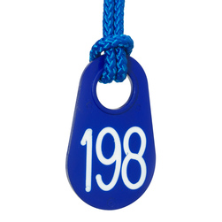 Blue Calf Tag Set with White Numbers 1-200