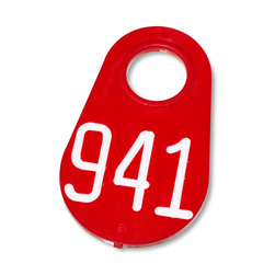 Nasco Nylon Flex Tags - with White Numbers 201-999