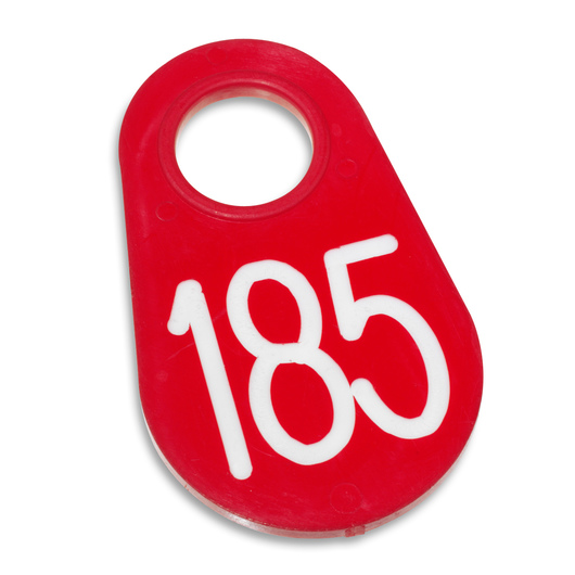 Nasco Nylon Flex Tags - Red Tags with White Numbers 1-200