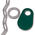 Nasco Nylon Flex Tags - Green Tag, Ring, and No. 2 Straight Chain Set - Blank