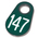 Nasco Nylon Flex Tags - Green Tags with White Numbers 1-200