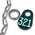 Nasco Nylon Flex Tags - Green Tag, Ring, and #1 Twist Link Chain Set with White Numbers 201-999