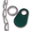 Nasco Nylon Flex Tags - Green Tag, Ring, and #1 Twist Link Chain Set - Blank