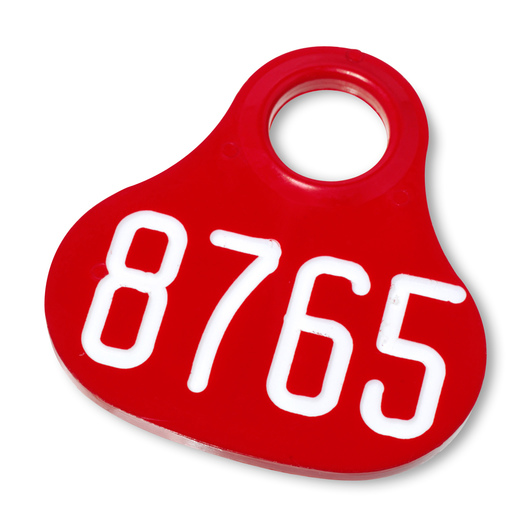 Nasco Giantag - Red Tags with White Numbers, 1000-9999
