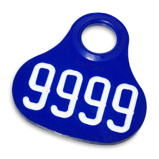 Nasco Giantag - Blue Giantags, with Numbers 1000-9999