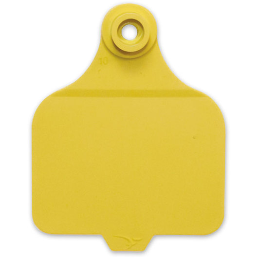 Destron Fearing™ Large Blank Tags (with Studs) - Yellow, Pack of 25