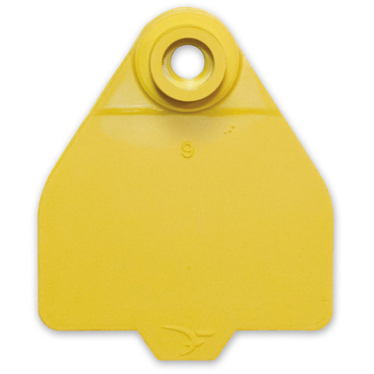 Destron Fearing™ Medium Blank Tags (with Studs) - Yellow, Pack of 25