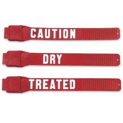 Precautionary Labeled Red Leg Bands