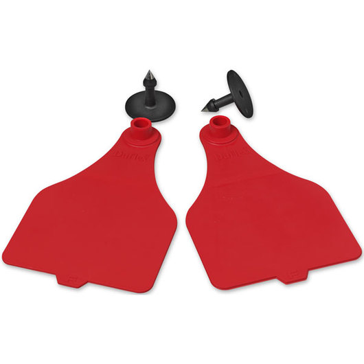 Destron Fearing™ Extra Large Blank Tags (with Studs) - Red, Pack of 25