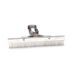 One-Piece Solid Aluminum Handle Grooming Comb - 9 in.
