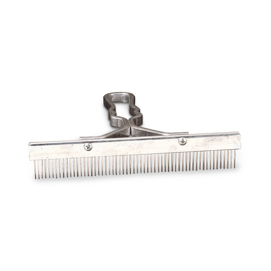 One-Piece Solid Aluminum Handle Grooming Comb - 9