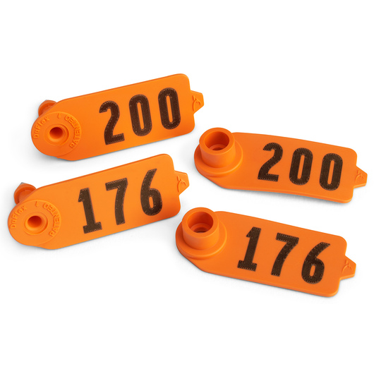 Destron Fearing™ Sheep/Goat Numbered Tags - Orange, Numbers 176-200