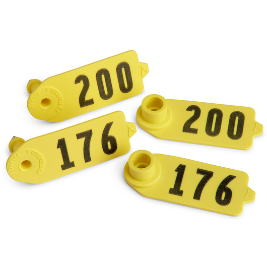 Destron Fearing™ Sheep/Goat Numbered Tags - Yellow, Numbers 126-150