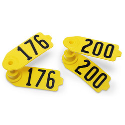 Destron Fearing™ Sheep/Goat Numbered Tags - Yellow