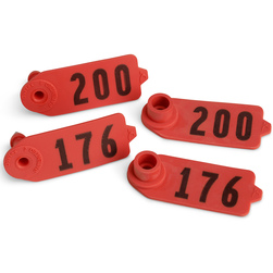 Destron Fearing Lasermarked Sheep/Goat Numbered Tags with Studs - Red