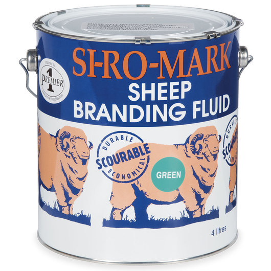 Scourable Sheep Branding Liquid - Green