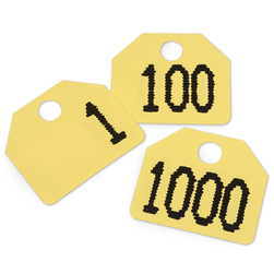 Yellow Plastic Auction Sale Tags - Set of 1,000