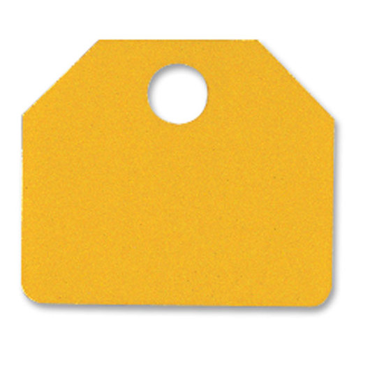 Yellow Plastic Auction Sale Tags - Blank