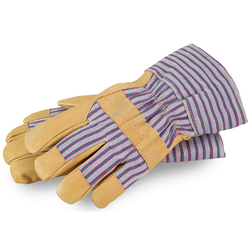 Heatkeep Cold Weather Work Gloves with Shirred Elastic Wristband with Cuff