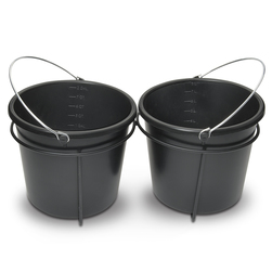 Feed Pails with Double Holder