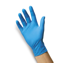 Latex-Free Econo-Blue Nitrile Gloves - Small