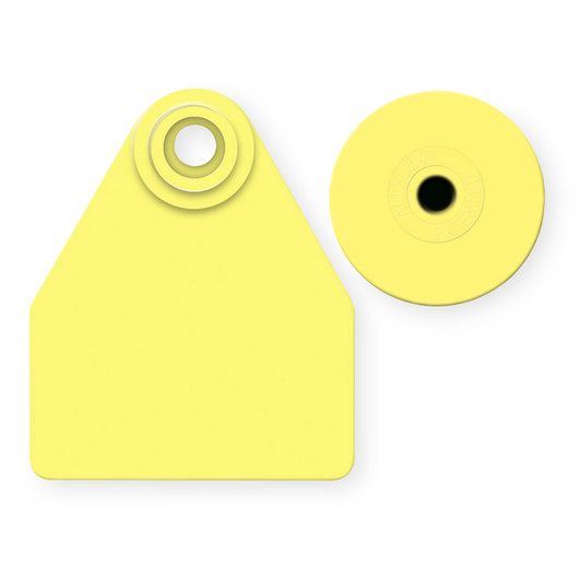 Allflex® Global Medium Female Blank Tags (with Studs) - Yellow