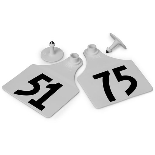 Allflex® Global Maxi Female Numbered Tags (with Studs) - White, Numbers 51-75
