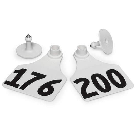 Allflex® Global Large Female Numbered Tags (with Studs) - White, Numbers 176-200