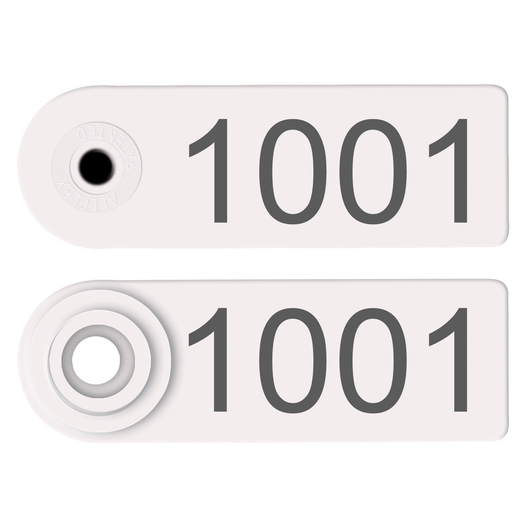 Allflex® Global Sheep Female and Global Sheep Male Numbered Tags - White, Numbers 1,001-999,999
