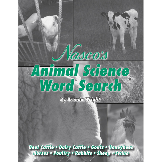 Nasco Animal Science Word Search Puzzles