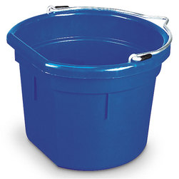 2 Gallon Plastic Flat-Back Pail