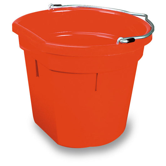 5-Gallon Flat-Back Plastic Bucket - Red