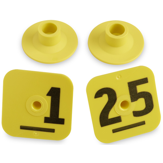 Destron Fearing™ Litter Max Numbered Hog Tags - Yellow, Numbers 1-25