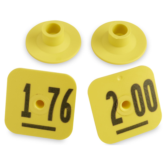 Destron Fearing™ Litter Max Numbered Hog Tags - Yellow, Numbers 176-200