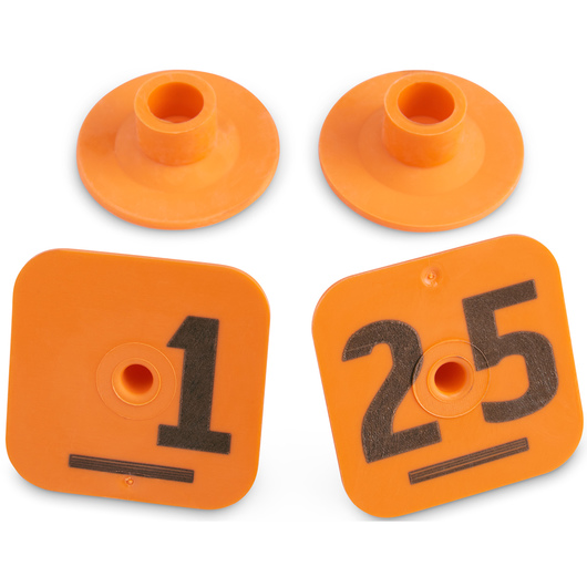 Destron Fearing™ Litter Max Numbered Hog Tags - Orange, Numbers 1-25