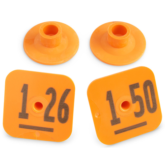 Destron Fearing™ Litter Max Numbered Hog Tags - Orange, Numbers 126-150