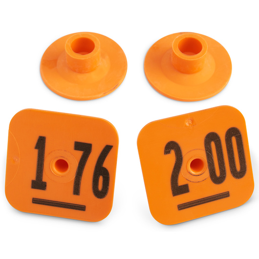 Destron Fearing™ Litter Max Numbered Hog Tags - Orange, Numbers 176-200