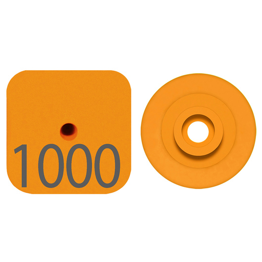 Destron Fearing™ Litter Max Numbered Hog Tags - Orange, Numbers Over 1,000