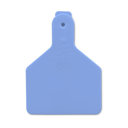 Z1 No-Snag-Tags® One-Piece Calf Size Blank Tags - 2 3/8 in. x 3 1/8 in. - Blue, Pack of 25