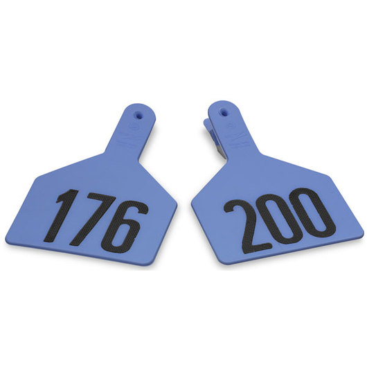 Z1 No-Snag-Tags® One-Piece Numbered Ear Tags, Cow Size 3 in. x 4-1/2 in. - Blue, 176-200