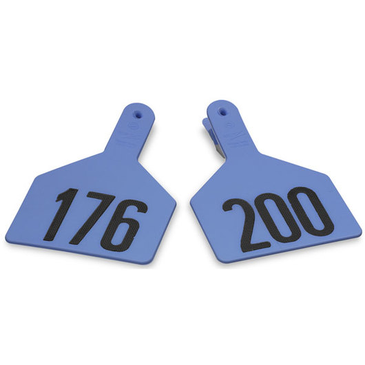 Z1 No-Snag-Tags® One-Piece Numbered Ear Tags, Cow Size 3 in. x 4-1/2 in. - Blue, 200+