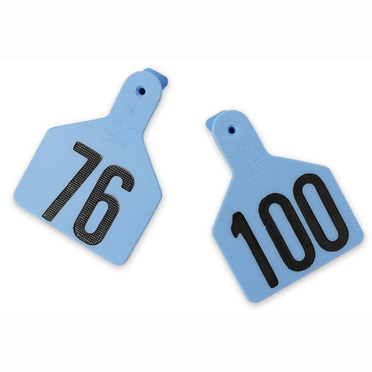 Z1 No-Snag-Tags® One-Piece Numbered Ear Tags, Calf Size 2-3/8 in. x 3-1/8 in. - Blue, Numbers 76-100