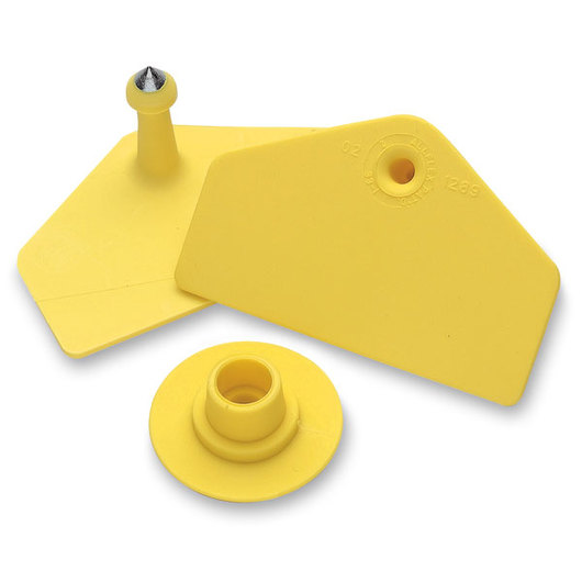 Allflex® Global Hog Male Blank Tags - Yellow, Pack of 25