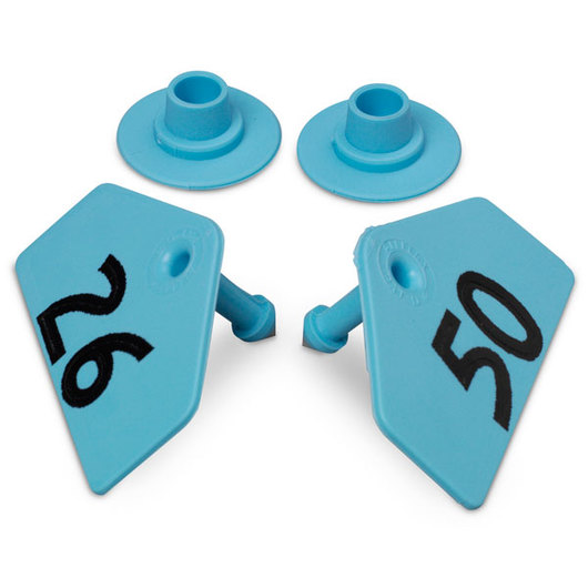 Allflex® Global Hog Male Numbered Tags - Blue, Numbers 26-50